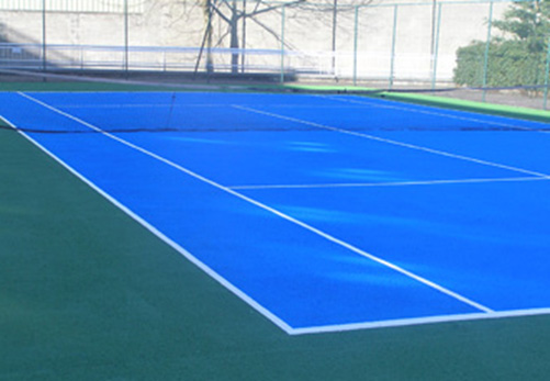Tennis Court Floor Line Paint Surface Repair Ireland